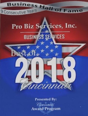 Best of Cincinnati award 2018
